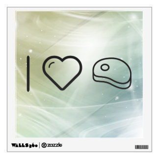 I Heart Meats Wall Decals