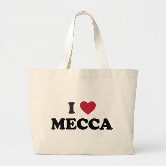 I Heart Mecca Saudi Arabia Large Tote Bag