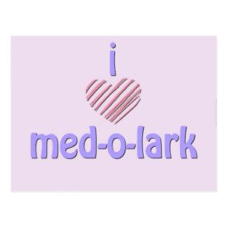 I Heart Med-o-Lark Postcard