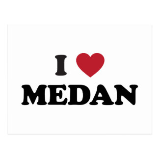 I Heart Medan Indonesia Postcard