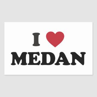 I Heart Medan Indonesia Rectangular Sticker