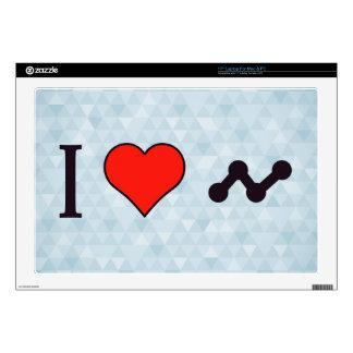 """I Heart Media Pr Skin For 17"""" Laptop"""