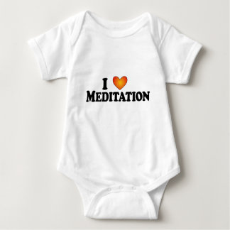 I (heart) Meditation - Lite Multi-Products Baby Bodysuit