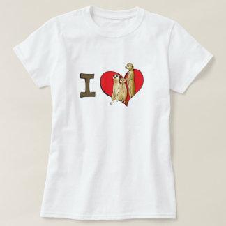 I heart meerkats shirt