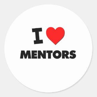 I Heart Mentors Classic Round Sticker