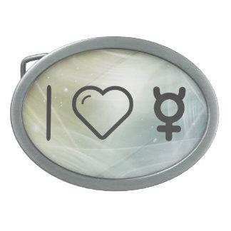 I Heart Mercurys Oval Belt Buckle