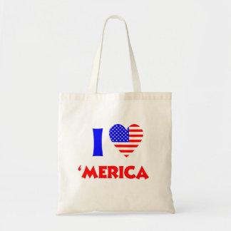 I heart merica budget tote bag