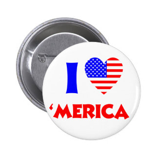I heart merica button