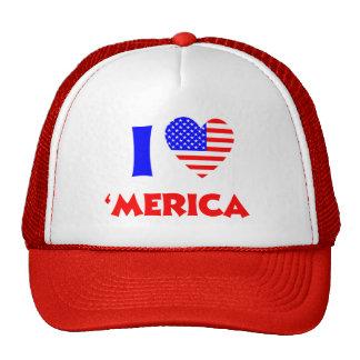I heart merica trucker hat