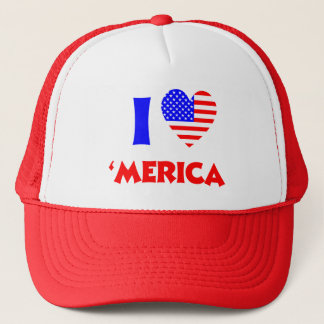 I heart merica trucker hat