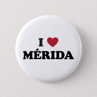 I Heart Mérida Mexico Pinback Button