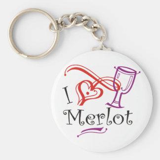 I Heart Merlot Keychain