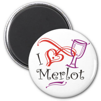 I Heart Merlot Fridge Magnets
