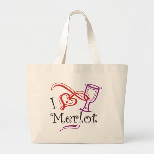 I Heart Merlot Tote Bags
