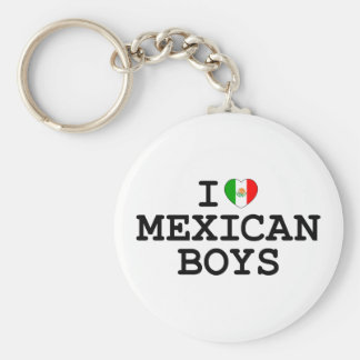 I Heart Mexican Boys Basic Round Button Keychain