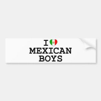 I Heart Mexican Boys Bumper Stickers