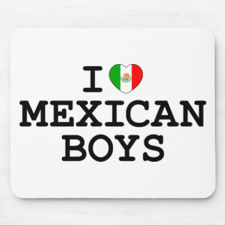 I Heart Mexican Boys Mouse Pads