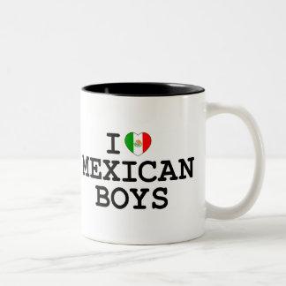 I Heart Mexican Boys Two-Tone Coffee Mug