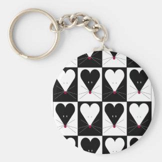 I Heart Mice Keychain
