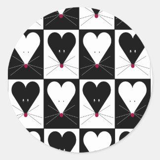 I Heart Mice Round Stickers