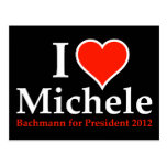 I Heart Michele Bachmann Postcard