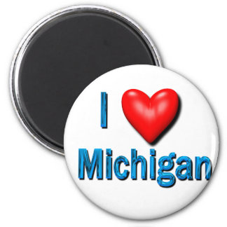 I Heart Michigan 2 Inch Round Magnet