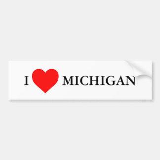 I heart Michigan Bumper Sticker