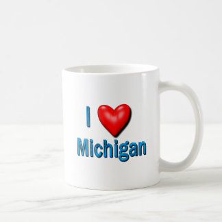 I Heart Michigan Coffee Mugs