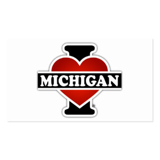 I Heart Michigan Double-Sided Standard Business Cards (Pack Of 100)
