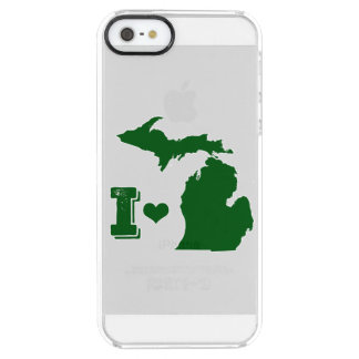 I heart Michigan Green Clear iPhone SE/5/5s Case