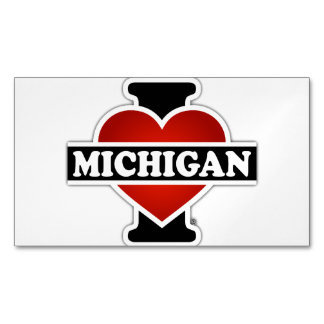 I Heart Michigan Magnetic Business Cards (Pack Of 25)