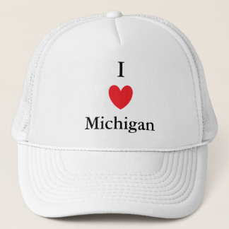 I Heart Michigan Trucker Hat