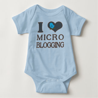 I Heart Micro Blogging Baby Bodysuit