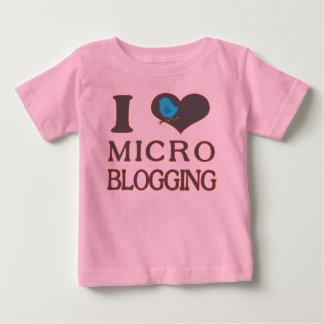 I Heart Micro Blogging Baby T-Shirt