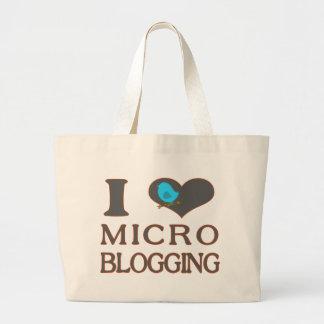 I Heart Micro Blogging Tote Bags