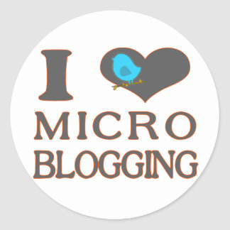 I Heart Micro Blogging Classic Round Sticker