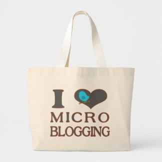 I Heart Micro Blogging Large Tote Bag