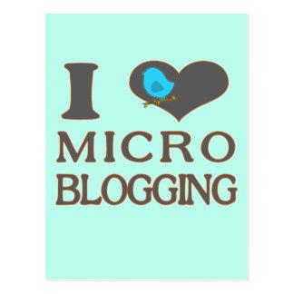 I Heart Micro Blogging Postcard