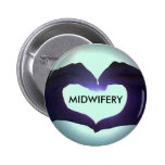 I heart Midwifery Pin