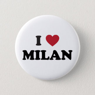 I Heart Milan Italy Button