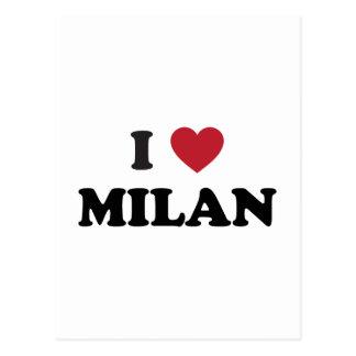 I Heart Milan Italy Postcards