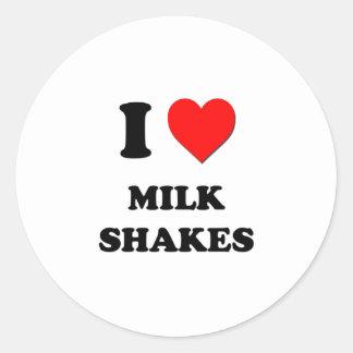I Heart Milk Shakes Classic Round Sticker