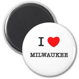 I Heart MILWAUKEE 2 Inch Round Magnet