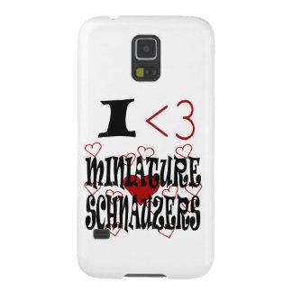 I Heart Miniature Schnauzers Galaxy S5 Cover