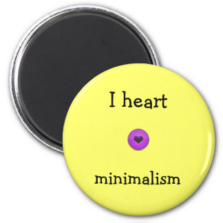 I heart minimalism 2 inch round magnet