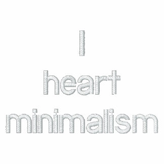 I heart minimalism hoody