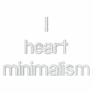 I heart minimalism hoodies