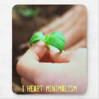 I heart minimalism mouse pad