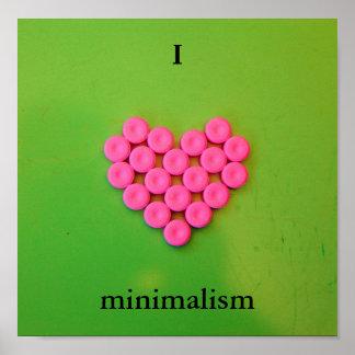 I heart minimalism poster