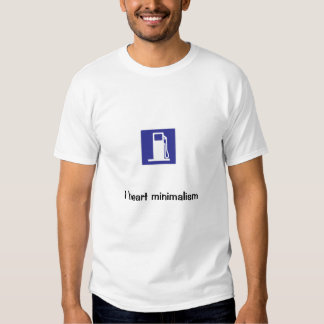 I heart minimalism t shirt